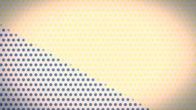 Abstrakt kropkujący miękkiego koloru tła ilości retro stylowego nowego ogólnoludzkiego ruchu dynamiczny animowany tło kolorowy ilustracji