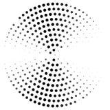Abstrakt kropkujący okrąg wyginający się Ilustracyjny projekt w halftone stylu royalty ilustracja