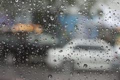 Abstrakt kropli woda z samochodem Zdjęcie Stock