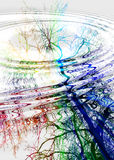 abstrakt krusningar Royaltyfria Bilder