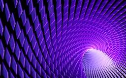 Abstrakt krzywa tunel ilustracji