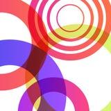 Abstrakt kształtuje tło kolorowych bąble ilustracji