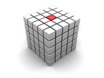 abstrakt kub vektor illustrationer