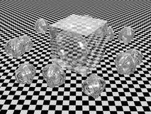 abstrakt kub Royaltyfria Bilder