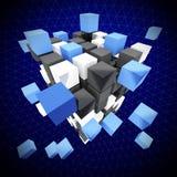 abstrakt kub Arkivfoton