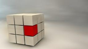 Abstrakt kub 3d Arkivfoton