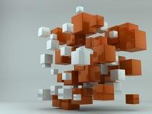 abstrakt kuber Arkivbild