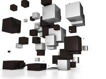 abstrakt kuber 3d royaltyfri illustrationer