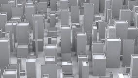 Abstrakt kubikvit stadsmiljö - royaltyfria bilder