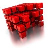 abstrakt kubstruktur Arkivbild