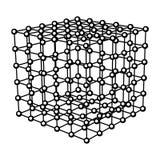 Abstrakt kubvektorbakgrund Arkivfoton