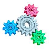 abstrakt kugghjul vektor illustrationer