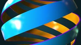 Abstrakt kuli ziemskiej ślimakowaty zakończenie, 3D rendering Fotografia Stock