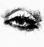 Abstrakt kvinnaöga skärm för efterföljd för bakgrundsdatormode Royaltyfria Bilder