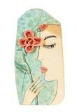 Abstrakt kvinna med en blomma Royaltyfria Bilder