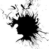 Abstrakt kvinnasilhouette. Royaltyfri Bild