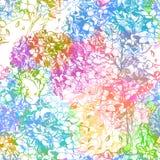 Abstrakt kwitnie bezszwowego wzór. Wektor, EPS10 Zdjęcia Royalty Free