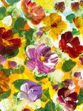 Abstrakt kwitnie, kreatywnie abstrakcjonistyczna ręka malujący tło ilustracja wektor