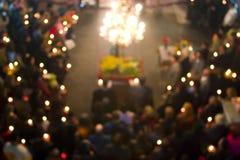 abstrakt kyrklig folkmassa Arkivfoton