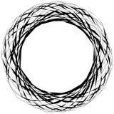 Abstrakt lättretlig rund form, beståndsdel som isoleras på vit random stock illustrationer