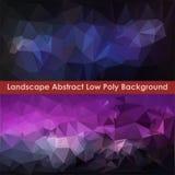 Abstrakt låg Poly bakgrund 2 för landskap vektor illustrationer