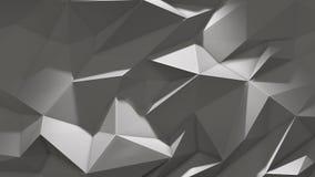 Abstrakt låg poly triangelbakgrund för vit med skugga stock video