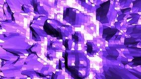 Abstrakt låg poly vinkande yttersida för Violet som futuristisk bakgrund Abstrakt geometrisk vibrerande miljö för Violet eller stock video