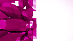 Abstrakt låg poly vinkande yttersida för Violet som futuristisk miljö Abstrakt geometrisk vibrerande miljö för Violet eller arkivfilmer