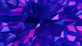 Abstrakt låg poly vinkande yttersida för Violet som ungdombakgrund Abstrakt geometrisk vibrerande miljö för Violet eller stock illustrationer