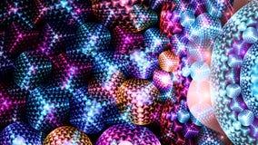 Abstrakt, långsamt roterande ljus från en nattklubb dansgolv royaltyfri illustrationer