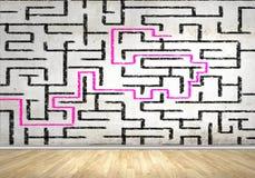 Abstrakt labyrint Arkivfoton