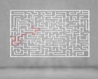 Abstrakt labyrint Arkivbilder