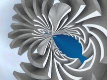 abstrakt labyrint arkivfoto