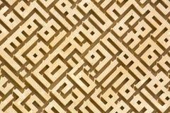 Abstrakt labyrint av stenen Arkivbilder