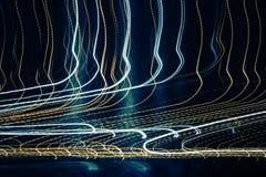 abstrakt lampatrails Arkivbilder