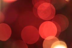 Abstrakt lampor på julgranen Royaltyfri Fotografi