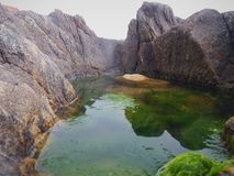 Abstrakt landskap av en pöl av vatten arkivfoto