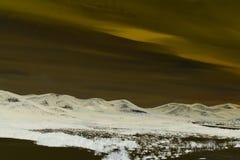Abstrakt landskap Ungern Arkivfoton