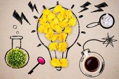 Abstrakt lightbulb och andra objekt Royaltyfri Fotografi