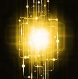abstrakt lighting för brädeströmkretseffekt vektor illustrationer