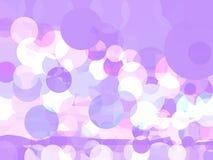 Abstrakt lila bakgrund för vektor med cirklar royaltyfri illustrationer