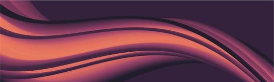 Abstrakt lila baner på lilor vektor illustrationer