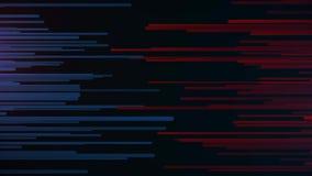 Abstrakt linie i junakowania Horyzontalne linie na lewym błękicie na prawym czerwonym chodzeniu w kierunku each inny Animacja wza ilustracja wektor