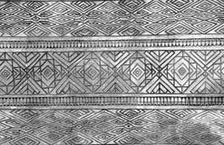 abstrakt linii wzór na cement ścianie Zdjęcia Royalty Free