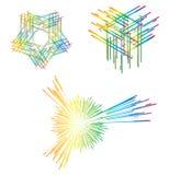 abstrakt linje vektor illustrationer
