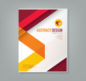 Abstrakt linje designbakgrundsmall för affärsårsrapport vektor illustrationer