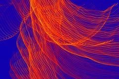 Abstrakt linje för ljus våg för natt Arkivbild