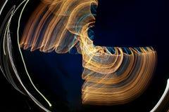 Abstrakt linje för ljus våg för natt Arkivbilder