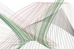 Abstrakt linje & geometrisk modell för kurva, färgrikt & konstnärligt för grafisk design Bakgrund, textur, form & yttersida royaltyfri illustrationer