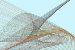 Abstrakt linje & geometrisk modell för kurva, färgrikt & konstnärligt för grafisk design Vektor, kanfas, teckning & stil stock illustrationer